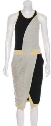Helmut Lang Colorblock Midi Dress
