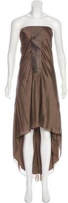 Brunello Cucinelli High-Low Maxi Dress