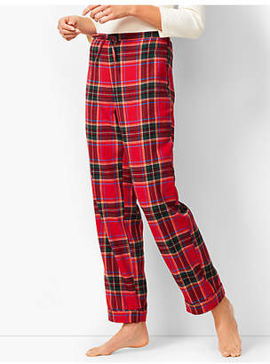 Talbots Drawcord Pajama Pant - Yarn-Dyed Tartan Plaid