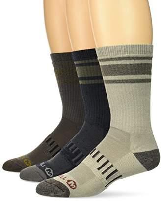 Merrell Men's Cushion Hiker Crew 3 Pack Sock