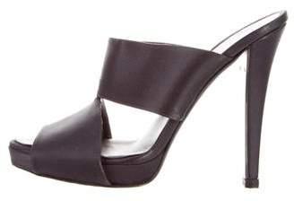 Halston Satin Slide Sandals