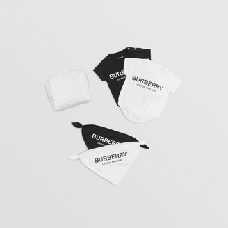 f0ca01366e2 Free Standard Shipping at Burberry · Burberry Childrens Logo Print Cotton  Four-piece Baby Gift Set
