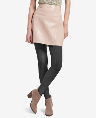 Hue Control-Top Micro Cable-Knit Tights