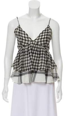 Marissa Webb Check Sleeveless Top