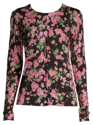 Escada Wool & Silk Floral Cardigan