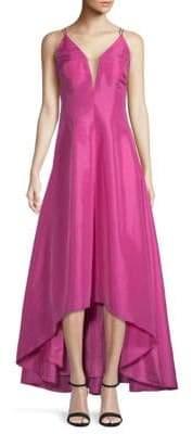 Calvin Klein Deep V-Neck Hi-Lo Ball Gown