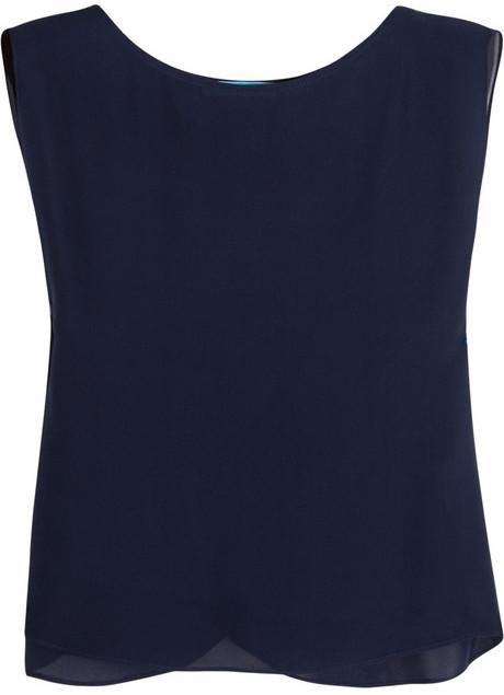 Alice + Olivia Silk-chiffon T-shirt
