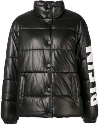 Philipp Plein logo print puffer jacket
