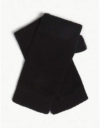 Johnstons Plain cashmere wrist warmers