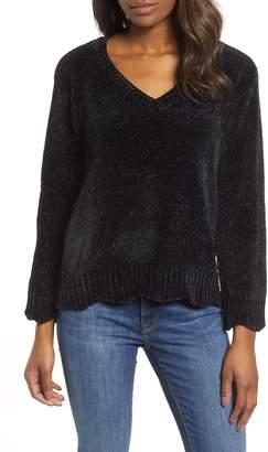 Wit & Wisdom Scalloped Chenille Sweater