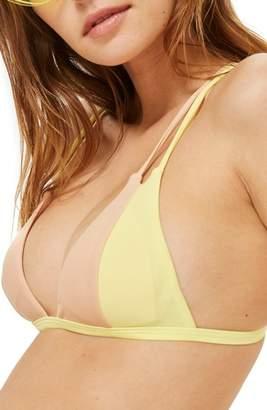 Topshop Colorblock Triangle Bikini Top