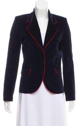 Faith Connexion Velvet Notch-Lapel Blazer