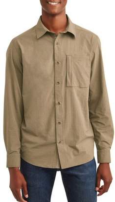 Swiss+Tech Men's Long Sleeve Outdoor Woven Shirt, Up To 5Xl