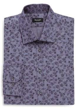 Sand Cotton Printed Dress Shirt