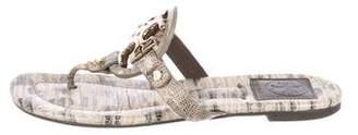Tory Burch Logo T-Strap Sandals