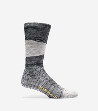 Cole Haan Men's ZERØGRAND Melange Color-Block Crew Socks