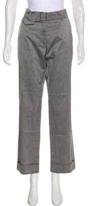 Dries Van Noten Belted Mid-Rise Pants Grey Belted Mid-Rise Pants