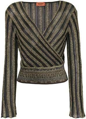 Missoni striped v-neck lurex dress