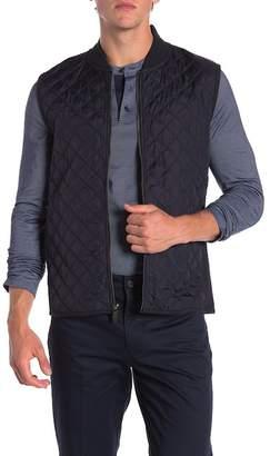Perry Ellis Woven Full Zip Vest