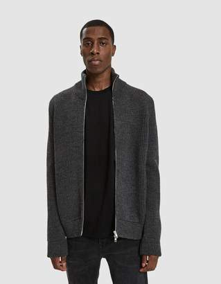 Maison Margiela Zip Cardigan in Charcoal