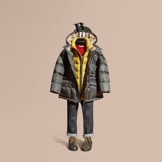 Burberry Down-filled Hooded Puffer Coat $525 thestylecure.com