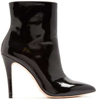ALEXACHUNG Point-toe patent-leather ankle boots