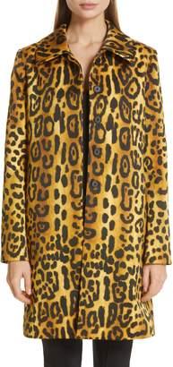 ADAM by Adam Lippes Jaguar Print Duchesse Satin Coat