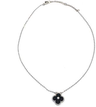 Lets Accessorize Cz Clover Necklace