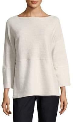 Lafayette 148 New York Linen Combo Sweater