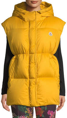 Moncler Cheveche Puffer Vest w/ Hood