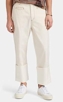 Loewe Men's Cuffed Fisherman Jeans - White