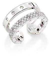 Roberto Coin Double Symphony Diamond & 18K White Gold Ring