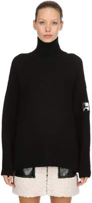 Courreges Oversized Wool Turtleneck Sweater