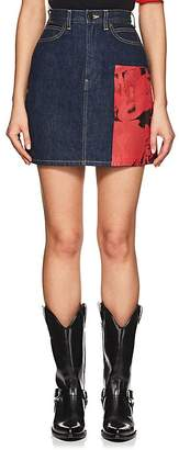 """Calvin Klein Women's """"Dennis Hopper"""" Denim Miniskirt"""