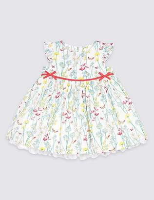 Marks and Spencer Pure Cotton Floral Print Party Dress