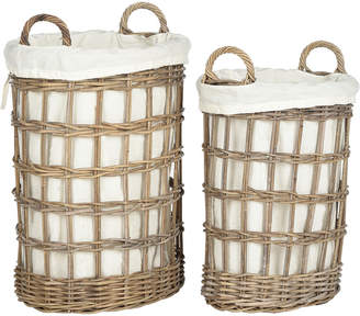 Safavieh Adisa Wicker Storage Hamper - Two In One