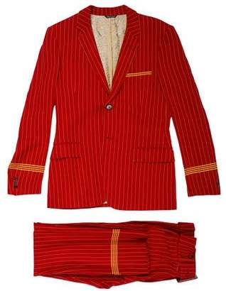 Jean Paul Gaultier Striped Two-Button Suit