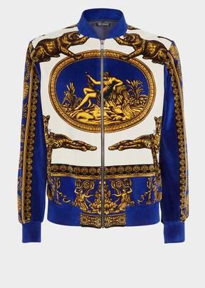 Versace Signature Dea Print Zip Sweatshirt