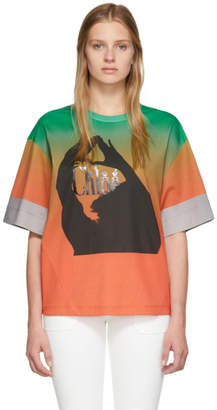 Chloé Green and Orange Mercerized Logo T-Shirt