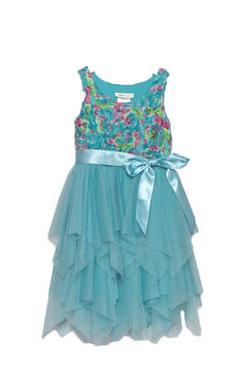 Bonnie Jean Aqua Petal Dress