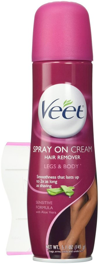 Veet Spray On Hair Removal Cream Sensitive Formula - 5.1 oz