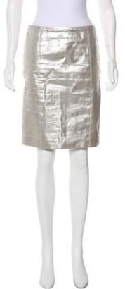 Calvin Klein Collection Metallic Knee-Length Skirt