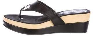 Aquatalia Leather Slide Sandals