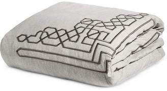Hotel Collection Embroidered Fretwork Queen Duvet Cover, Created for Macy's Bedding