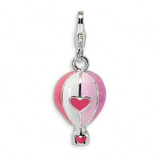 Zales Amore La Vitaa Pink Hot Air Balloon Charm in Sterling Silver