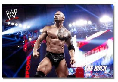 WWE Trademark Fine Art 16 in. x 24 in. Officially Licensed The Rock I Canvas Art