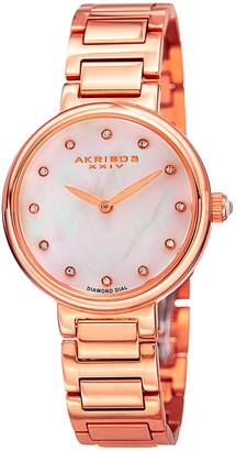Akribos XXIV Women's Stainless Steel Diamond Watch