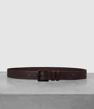 AllSaints Slim Breach Leather Belt