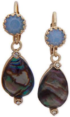 lonna & lilly Gold-Tone Pave & Stone Drop Earrings