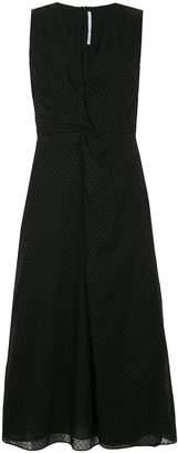 Rosetta Getty flocked polka dot dress